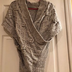 Anthropologie Sleeping on snow Cable Sweater Sz ML
